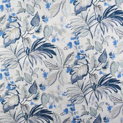 F2250 Indigo Fabric: E70, BLUE FLORAL, BLUE TROPICAL FLORAL, TURQUOISE TROPICAL FLORAL, TEAL TROPICAL FLORAL, FLORAL PRINT, TROPICAL FLORAL PRINT