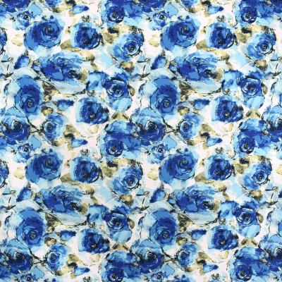 F2286 Cobalt Fabric: E70, BLUE FORAL PRINT, FLORAL PRINT, COBALT BLUE FLORAL, COBALT BLUE FLORAL PRINT
