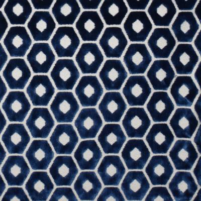 F2306 Midnight Fabric: E70, GEOMETRIC VELVET, HEXAGON, MIDNIGHT BLUE GEOMETRIC VELVET, CUT VELVET, GEOMETRIC CUT VELVET, BLUE GEOMETRIC VELVET, BLUE CUT VELVET, NAVY CUT VELVET