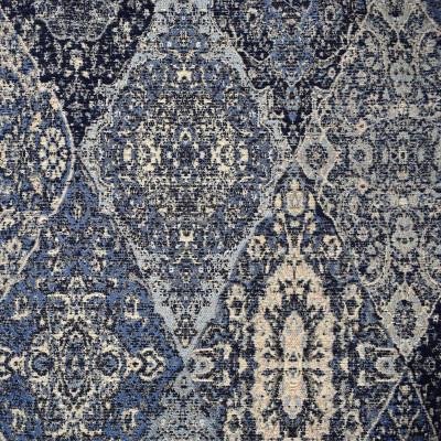 F2308 Indigo Fabric: E70, BLUE WOVEN TAPESTRY, INDIGO WOVEN TAPESTRY, TURQUOISE WOVEN TAPESTRY, TEAL WOVEN TAPESTRY, NAVY WOVEN TAPESTRY