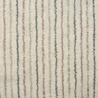 F2323 Petal Fabric: E71, CONTEMPORARY EMBROIDERY, STRIPE EMBROIDERY, PINK AND GRAY STRIPE, PINK AND GRAY EMBROIDERY
