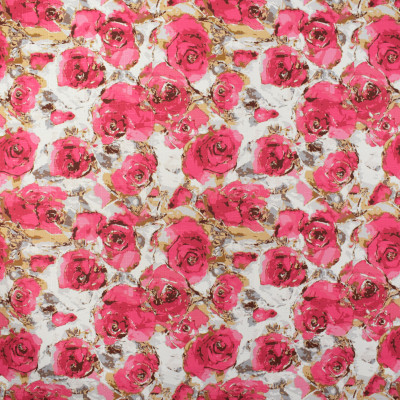 F2334 Coral Fabric: E71, PINK FLORAL, PINK PRINT, FLORAL PINK PRINT, PINK FLORAL PRINT, HOT PINK