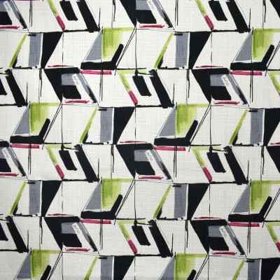 F2351 Fuschia Fabric: E71, MULTICOLOR GEOMETRIC, GEOMETRIC PRINT, GRAY, GREEN, BLACK, BERRY, PRINT, BLACK AND GREEN GEOMETRIC, GREEN AND BLACK CONTEMPORARY, CONTEMPORARY PRINT, CONTEMPORARY GEOMETRIC