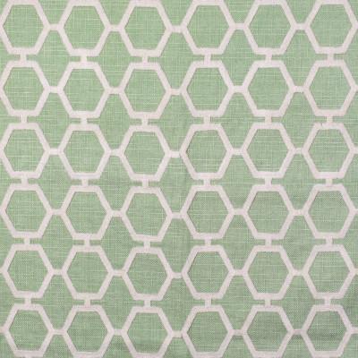 F2361 Moss Fabric: E71, GEOMETRIC EMBROIDERY, GREEN EMBROIDERY, GREEN GEOMETRIC, HEXAGON, GREEN GEOMETRIC EMBROIDERY, GEOMETRIC TEXTURE EMBROIDERY, GREEN TEXTURED EMBROIDERY