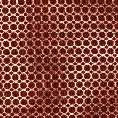 F2377 Carmine Fabric: E71, TEXTURED DOT, BURNT ORANGE, ORANGE DOT CHENILLE, TEXTURED CHENILLE, ORANGE