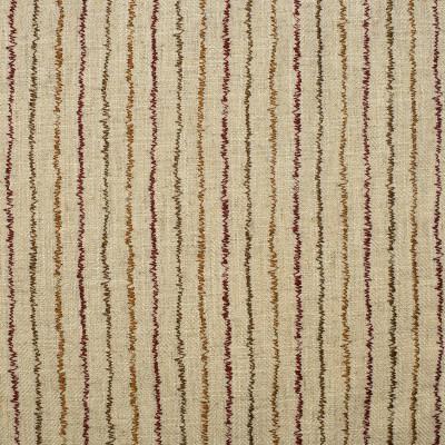 F2378 Paprika Fabric: E71, CONTEMPORARY EMBROIDERY, STRIPE EMBROIDERY, RED AND ORANGE STRIPE, RED AND ORANGE EMBROIDERY, CONTEMPORARY STRIPE