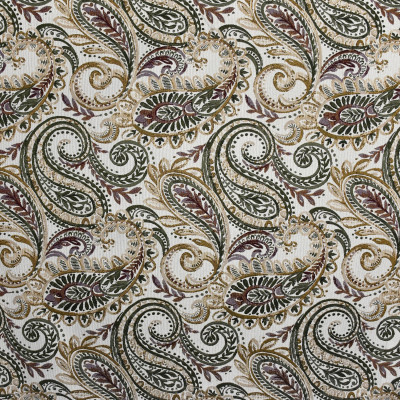F2390 Rosewood Fabric: E72, TAPESTRY, TRADITIONAL TAPESTRY, PAISLEY TAPESTRY, TRADITIONAL PAISLEY, GREEN TAPESTRY, RED TAPESTRY, GOLD TAPESTRY, GREEN PAISLEY, RED PAISLEY, TRADITIONAL SCROLL, GREEN SCROLL, RED SCROLL, JACQUARD