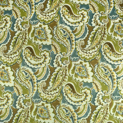 F2398 Garden Party Fabric: E72, TAPESTRY, JACQUARD, TEAL PAISLEY, GREEN PAISLEY, TEAL TAPESTRY, GREEN TAPESTRY, PAISLEY TAPESTRY