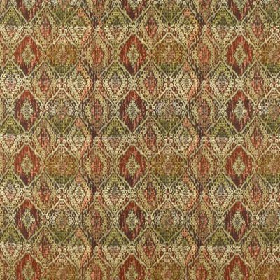 F2402 Spice Fabric: E72, MEDALLION TAPESTRY, MEDALLION JACQUARD, TAPESTRY, JACQUARD, GREEN MEDALLION, ORANGE MEDALLION, MULTICOLOR TAPESTRY, GREEN TAPESTRY, ORANGE TAPESTRY
