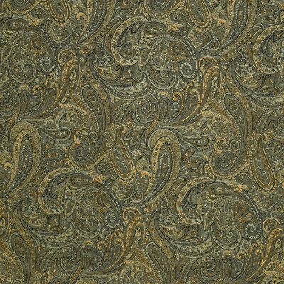 F2411 Agate Fabric: E72, D35, PAISLEY TAPESTRY, BLUE TAPESTRY, BLUE PAISLEY, TRADITIONAL PAISLEY, BLUE SCROLL, TAPESTRY, TRADITIONAL SCROLL, GOLD TAPESTRY, GOLD PAISLEY, GOLD SCROLL