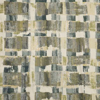 F2412 Atlantic Fabric: E72, GEOMETRIC JACQUARD, GREEN GEOMETRIC, GREEN JACQUARD, TRADITIONAL JACQUARD, TAPESTRY