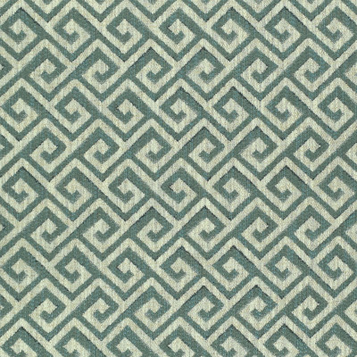 F2417 Aqua Fabric: E72, GEOMETRIC WOVEN, TEAL WOVEN, TEAL GEOMETRIC, GREEK KEY, TEAL GREEK KEY, WOVEN GREEK KEY