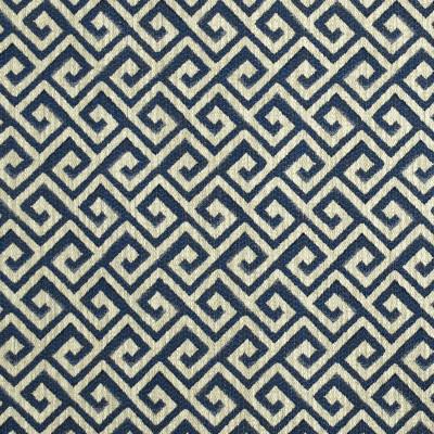 F2434 True Blue Fabric: E72, GEOMETRIC WOVEN, BLUE WOVEN, BLUE GEOMETRIC, GREEK KEY, BLUE GREEK KEY, WOVEN GREEK KEY