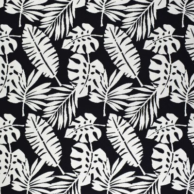 F2570 Carbon Fabric: E75, MADE IN USA, REVOLUTION, OUTDOOR, REVOLUTION OUTDOOR, PERFORMANCE, BLEACH CLEANABLE, TROPICAL OUTDOOR, LEAF, OUTDOOR LEAF, BLACK TROPICAL, BLACK AND WHITE OUTDOOR, TROPICAL, FOLIAGE
