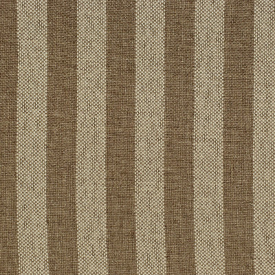 F2598 Cafe Au Lait Fabric: E75, MADE IN USA, REVOLUTION, OUTDOOR, REVOLUTION OUTDOOR, PERFORMANCE, BLEACH CLEANABLE, BROWN STRIPE, OUTDOOR STRIPE, STRIPE OUTDOOR, BROWN OUTDOOR STRIPE, PICNIC STRIPE, CANVAS STRIPE
