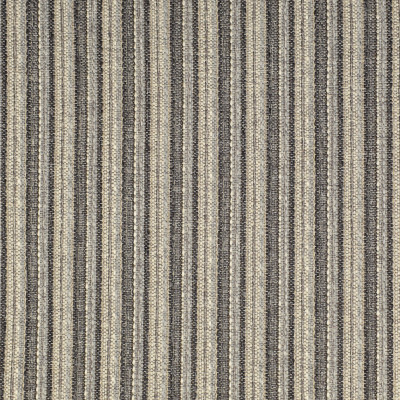 F2608 Pewter Fabric: E75, MADE IN USA, REVOLUTION, OUTDOOR, REVOLUTION OUTDOOR, PERFORMANCE, BLEACH CLEANABLE, GRAY STRIPE, OUTDOOR STRIPE, GRAY OUTDOOR, MULTICOLOR STRIPE