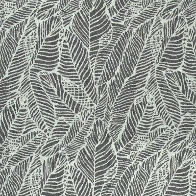 F2613 Pewter Fabric: E75, MADE IN USA, REVOLUTION, OUTDOOR, REVOLUTION OUTDOOR, PERFORMANCE, BLEACH CLEANABLE, TROPICAL OUTDOOR, LEAF, OUTDOOR LEAF, GRAY TROPICAL, GRAY OUTDOOR, TROPICAL, FOLIAGE, PEWTER