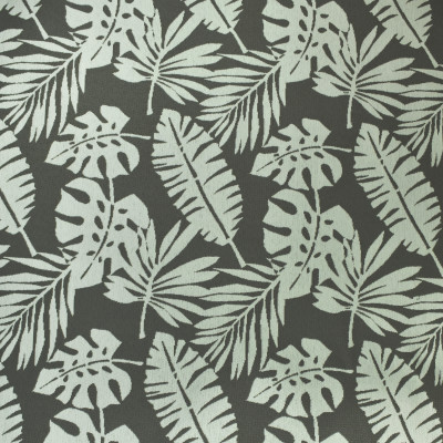 F2615 Shadow Fabric: E75, MADE IN USA, REVOLUTION, OUTDOOR, REVOLUTION OUTDOOR, PERFORMANCE, BLEACH CLEANABLE, TROPICAL OUTDOOR, LEAF, OUTDOOR LEAF, GRAY TROPICAL, GRAY OUTDOOR, TROPICAL, FOLIAGE, CHARCOAL