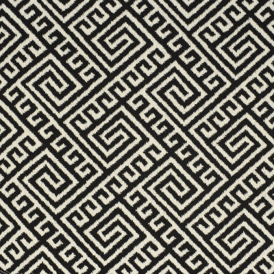 F2618 Ink Fabric: E75, MADE IN USA, REVOLUTION, OUTDOOR, REVOLUTION OUTDOOR, PERFORMANCE, BLEACH CLEANABLE, BLACK GEOMETRIC, OUTDOOR GEOMETRIC, GREEK KEY, BLACK GREEK KEY, OUTDOOR GREEK KEY