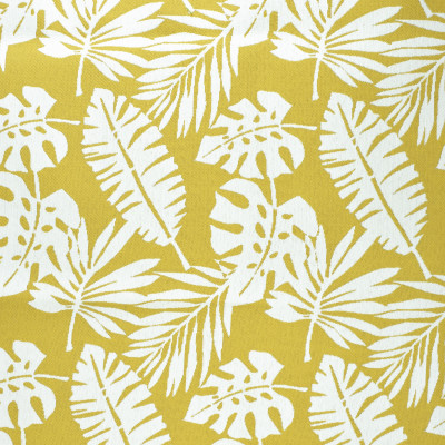 F2636 Lemon Fabric: E76, MADE IN USA, REVOLUTION, OUTDOOR, REVOLUTION OUTDOOR, PERFORMANCE, BLEACH CLEANABLE, TROPICAL OUTDOOR, LEAF, OUTDOOR LEAF, YELLOW TROPICAL, YELLOW OUTDOOR, YELLOW LEAF, TROPICAL, FOLIAGE