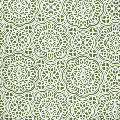 F2639 Matcha Fabric: E76, MADE IN USA, REVOLUTION, OUTDOOR, REVOLUTION OUTDOOR, PERFORMANCE, BLEACH CLEANABLE, OUTDOOR MEDALLION, OUTDOOR GEOMETRIC, GREEN MEDALLION, GREEN GEOMETRIC