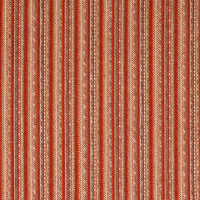 F2650 Poppy Fabric: E76, MADE IN USA, REVOLUTION, OUTDOOR, REVOLUTION OUTDOOR, PERFORMANCE, BLEACH CLEANABLE, RED STRIPE, ORANGE STRIPE, OUTDOOR STRIPE, STRIPE OUTDOOR, RED OUTDOOR