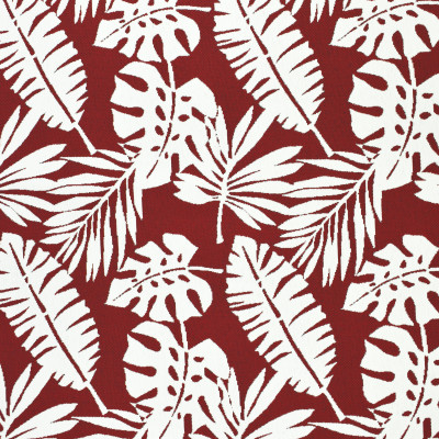 F2654 Flame Fabric: E76, MADE IN USA, REVOLUTION, OUTDOOR, REVOLUTION OUTDOOR, PERFORMANCE, BLEACH CLEANABLE, TROPICAL OUTDOOR, LEAF, OUTDOOR LEAF, RED TROPICAL, RED OUTDOOR, RED LEAF, TROPICAL, FOLIAGE