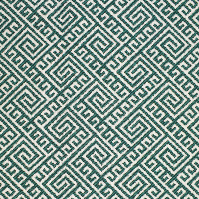 F2662 Tide Fabric: E76, MADE IN USA, REVOLUTION, OUTDOOR, REVOLUTION OUTDOOR, PERFORMANCE, BLEACH CLEANABLE, GEOMETRIC OUTDOOR, TEAL OUTDOOR, TEAL GEOMETRIC, GREEK KEY, TEAL GREEK KEY, OUTDOOR GREEK KEY