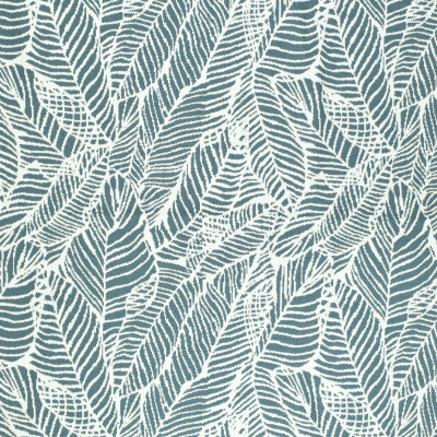 F2666 Blue Fabric: E76, MADE IN USA, REVOLUTION, OUTDOOR, REVOLUTION OUTDOOR, PERFORMANCE, BLEACH CLEANABLE, TROPICAL OUTDOOR, LEAF, OUTDOOR LEAF, BLUE TROPICAL, BLUE OUTDOOR, BLUE LEAF, TROPICAL, FOLIAGE