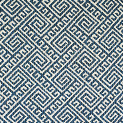 F2671 Wave Fabric: E76, MADE IN USA, REVOLUTION, OUTDOOR, REVOLUTION OUTDOOR, PERFORMANCE, BLEACH CLEANABLE, GEOMETRIC OUTDOOR, BLUE OUTDOOR, BLUE GEOMETRIC, GREEK KEY, BLUE GREEK KEY, OUTDOOR GREEK KEY