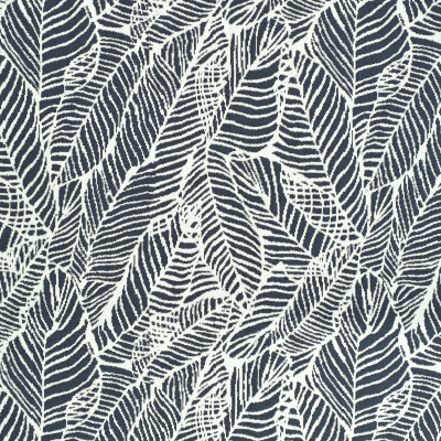 F2678 Navy Fabric: E76, MADE IN USA, REVOLUTION, OUTDOOR, REVOLUTION OUTDOOR, PERFORMANCE, BLEACH CLEANABLE, TROPICAL OUTDOOR, LEAF, OUTDOOR LEAF, BLUE TROPICAL, BLUE OUTDOOR, BLUE LEAF, TROPICAL, FOLIAGE, NAVY TROPICAL, NAVY OUTDOOR, NAVY LEAF