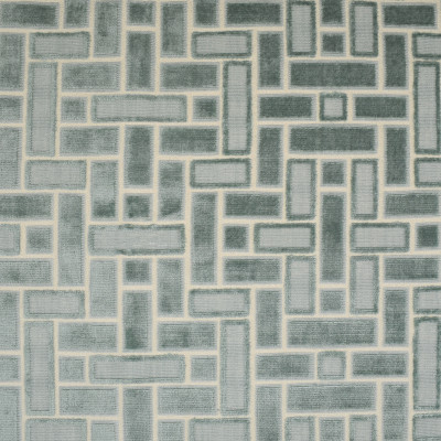 F2696 Mineral Fabric: E84, GEOMETRIC, VELVET, CUT VELVET, TEXTURE, BLUE, AQUA, MINERAL