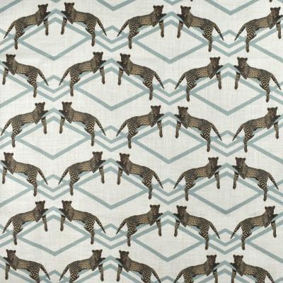 F2700 Mineral Fabric: E84, GEOMETRIC, ANIMAL, BLUE, MINERAL, TEAL, PRINT, LEOPARD, MODERN, CHEETAH, CHEETAH PRINT