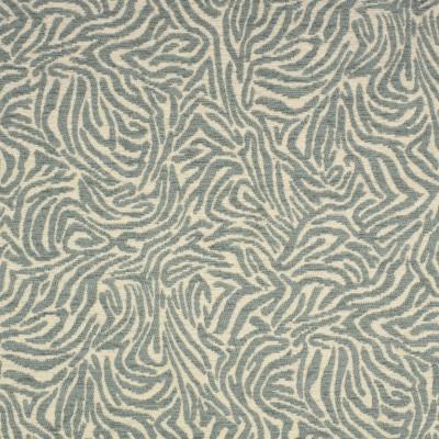F2701 Mist Fabric: E84, ANIMAL, SKIN, CHENILLE, WOVEN, GREEN, MIST, TEAL, ZEBRA
