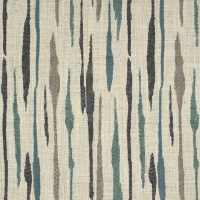 F2702 Azure Fabric: E84, CONTEMPORARY, PRINT, BLUE, TEAL, WATERCOLOR, ABSTRACT, MULTICOLOR, FAUX LINEN