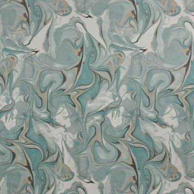 F2704 Azure Fabric: E84, CONTEMPORARY, MARBLE, PRINT, CHENILLE, TEAL, AQUA