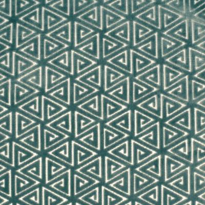 F2709 Aegean Fabric: E84, GEOMETRIC, CONTEMPORARY, VELVET, CUT VELVET, BLUE, TEAL, AEGEAN, TEXTURE