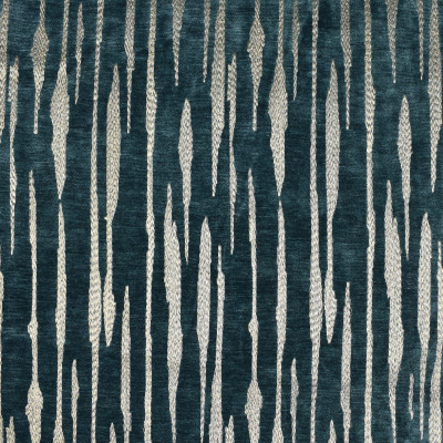 F2711 Teal Fabric: E84, METALLIC, STRIPE, EMBROIDERY, GOLD, TEAL, AEGEAN, CHENILLE