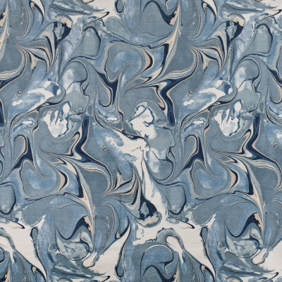 F2714 River Fabric: E84, CONTEMPORARY, MARBLE, PRINT, CHENILLE, BLUE