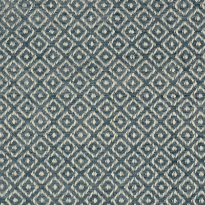 F2716 Ocean Fabric: E84, DIAMOND, GEOMETRIC, WOVEN, TEXTURE, BLUE, TEAL, SMALL SCALE, CHAIR SCALE