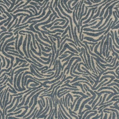 F2719 Mineral Fabric: E84, ANIMAL, SKIN, CHENILLE, WOVEN, BLUE, MINERAL, TEAL, ZEBRA