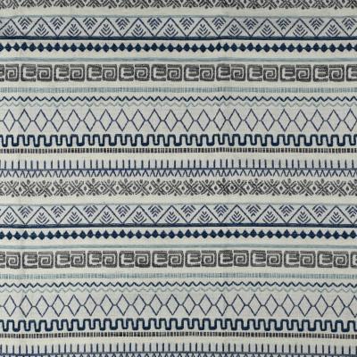 F2722 Sea Fabric: E84, GEOMETRIC, WOVEN, TEXTURE, SOUTHWEST, BLUE, AZTEC