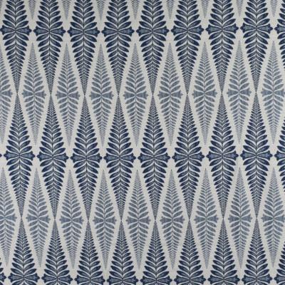 F2733 Denim Fabric: E84, FERN, FOLIAGE, WOVEN, JACQUARD, BLUE, DENIM