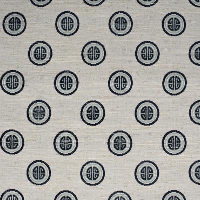F2737 Indigo Fabric: E84, MEDALLION, JACQUARD, BLUE, INDIGO, COIN, NOVELTY, DOT