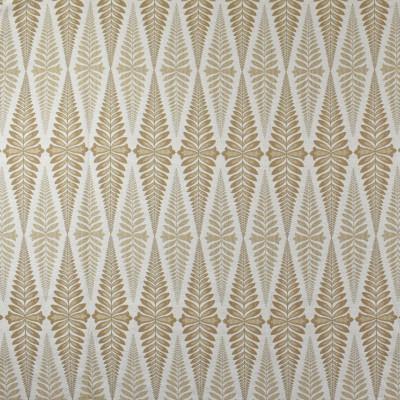 F2760 Wheat Fabric: E83, FERN, FOLIAGE, WOVEN, JACQUARD, BROWN, WHEAT
