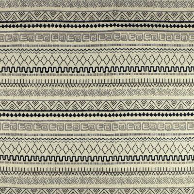 F2772 Cream Fabric: E83, GEOMETRIC, WOVEN, TEXTURE, SOUTHWEST, GRAY, GREY, BLACK, AZTEC
