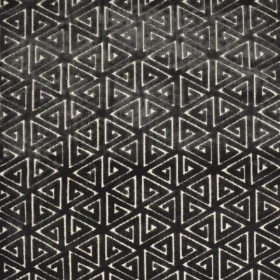 F2783 Charcoal Fabric: E83, GEOMETRIC, CONTEMPORARY, VELVET, CUT VELVET, GRAY, GREY, CHARCOAL, TEXTURE