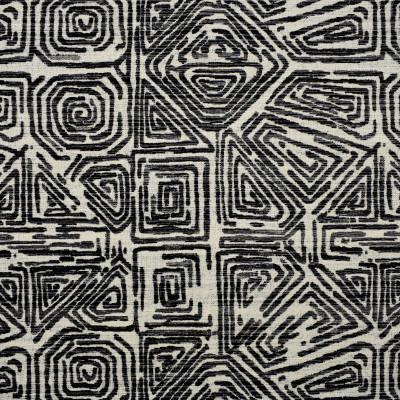 F2784 Black Fabric: E83, GEOMETRIC, VELVET, CUT VELVET, TEXTURE, BLACK, ABSTRACT, AZTEC