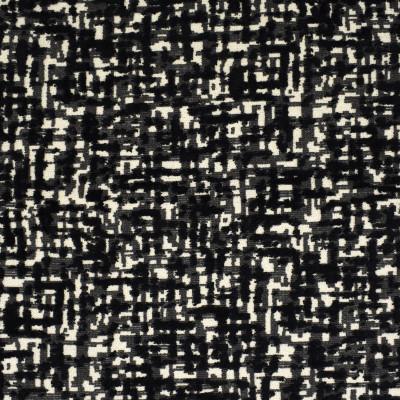 F2787 Ebony Fabric: E83, CONTEMPORARY, VELVET, CUT VELVET, TEXTURE, BLACK, EBONY