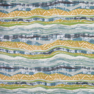 F2807 Sea Fabric: E85, CONTEMPORARY, MARBLE, PRINT, TEAL, SEA, GREEN, GOLD, MULTI